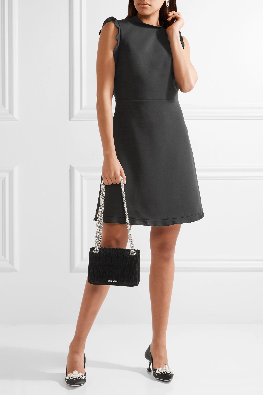 Miu Miu Embellished matelassé velvet shoulder bag