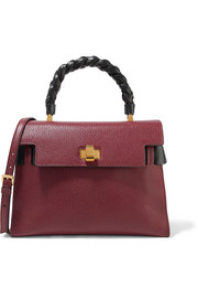Miu Miu Miu Click two-tone textured-leather tote