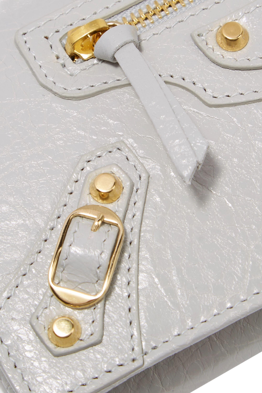 Balenciaga Classic Money textured-leather wallet