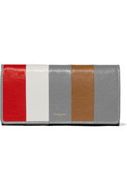 Balenciaga Bazar striped textured-leather wallet