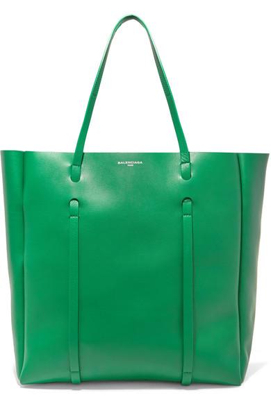 Balenciaga - Shopper Medium Leather Tote - Green