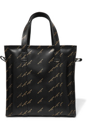 Balenciaga Bazar printed leather tote