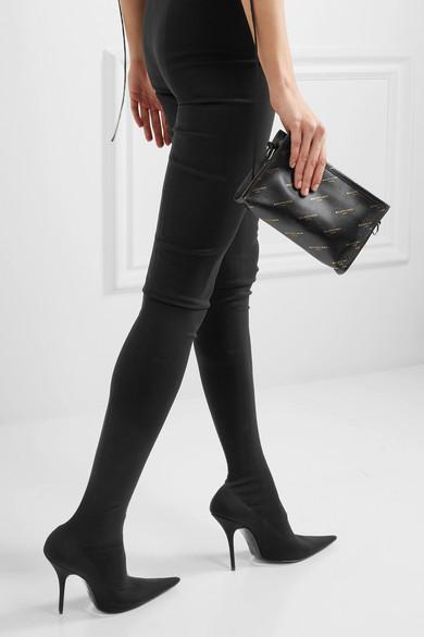 Balenciaga Bazar printed leather shoulder bag