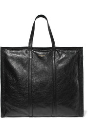 Balenciaga Bazar large cracked-leather shopper