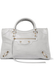 Classic City textured-leather tote