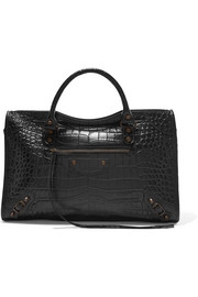 Balenciaga Classic City croc-effect leather tote