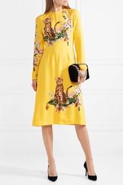Dolce & Gabbana Printed cady midi dress