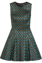 Dolce & Gabbana Flared metallic jacquard mini dress