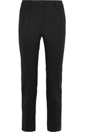 Dolce & Gabbana Wool-blend crepe slim-leg pants