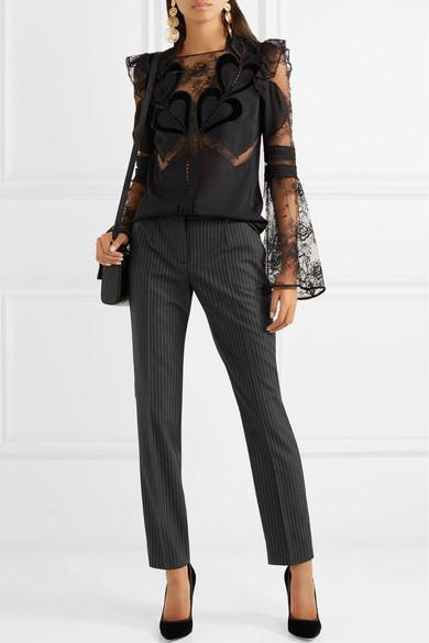 Dolce & Gabbana Nadelstreifenhose mit schmalem Bein aus Wolle