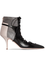 Malone Souliers Montana lace-up leather and suede ankle boots