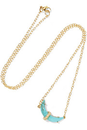Sleeping Beauty 14-karat gold, turquoise and diamond necklace