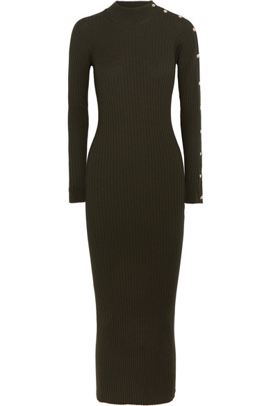 Versace button-embellished dress Limit Offer Cheap With Credit Card Online For Sale Online Store GADoBDQR