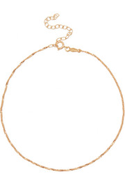 Sweet Nothing 14-karat gold anklet