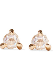 Sleeping Beauty 14-karat gold diamond earrings