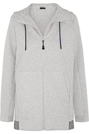 Switch cotton-blend jersey hooded sweatshirt