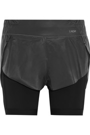 Eclipse layered shell and stretch-jersey shorts