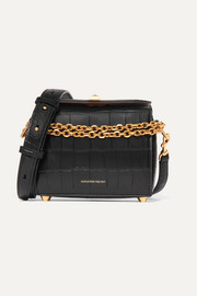 Box Bag 19 croc-effect leather shoulder bag