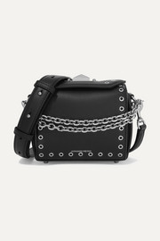 Alexander McQueen Box Bag 19 embellished leather shoulder bag