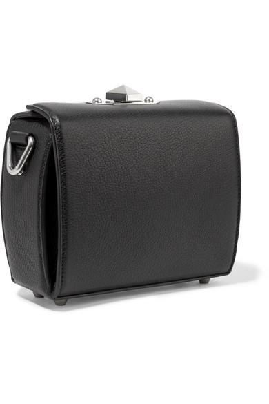 Alexander McQueen Box Bag 16 Schultertasche aus strukturiertem Leder