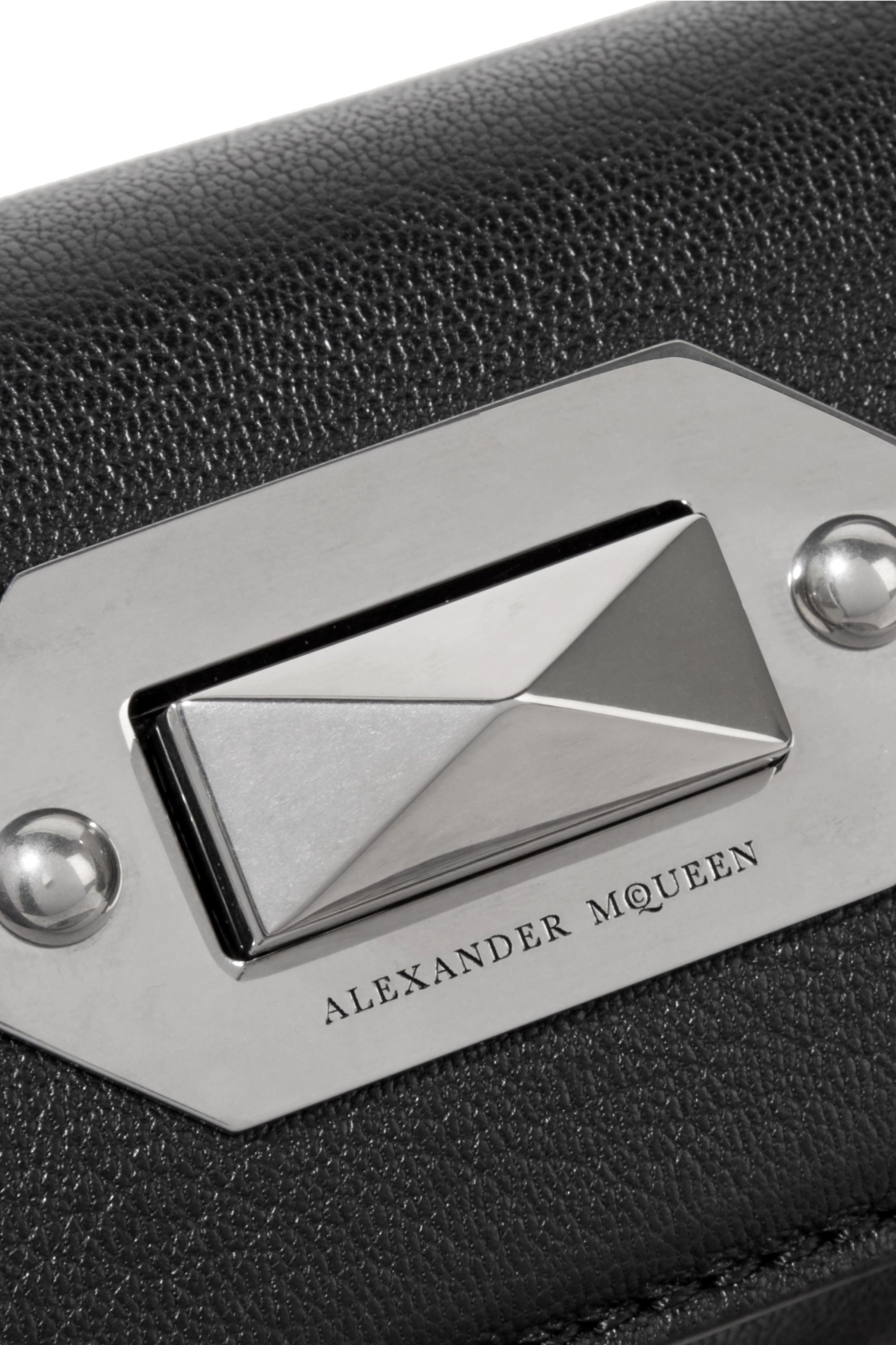 Alexander McQueen Box Bag 16 textured-leather shoulder bag