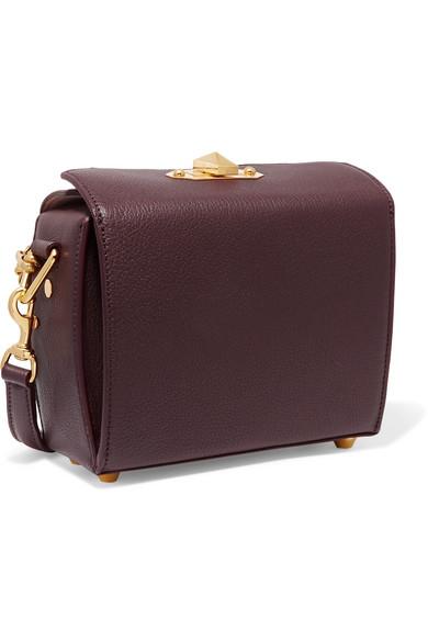 Alexander McQueen Box Bag 19 Schultertasche aus strukturiertem Leder