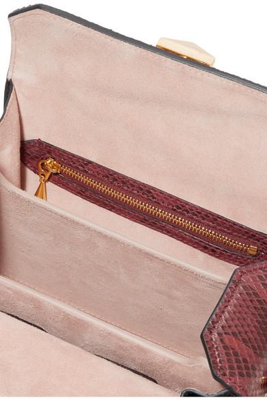 Alexander McQueen Box Bag 19 Schultertasche aus Pythonleder