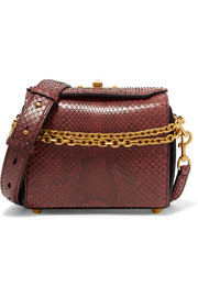 Alexander McQueen Box Bag 19 python shoulder bag
