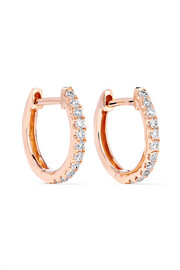 Huggies 18-karat rose gold diamond earrings