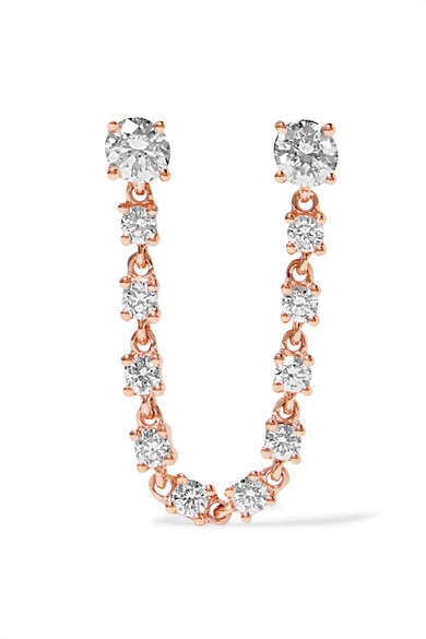 Anita Ko - 18-karat Rose Gold Diamond Earring