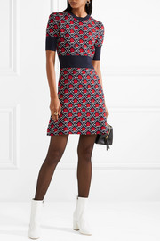 Miu Miu Intarsia wool mini dress
