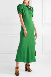 Miu Miu Embellished crepe midi dress