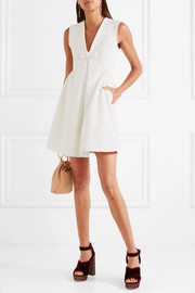 Miu Miu Bow-embellished faille mini dress