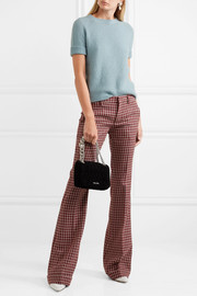 Miu Miu Checked wool flared pants
