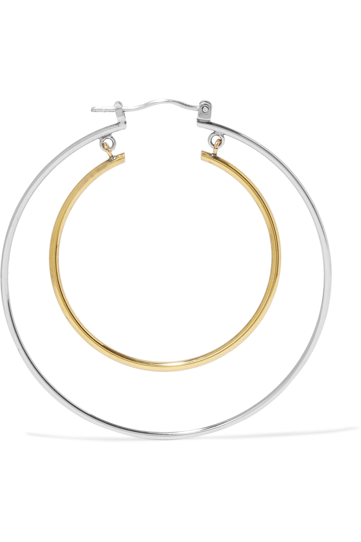 Alexander McQueen Gold and silver-tone hoop earrings