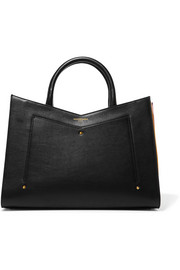 Plisse leather tote