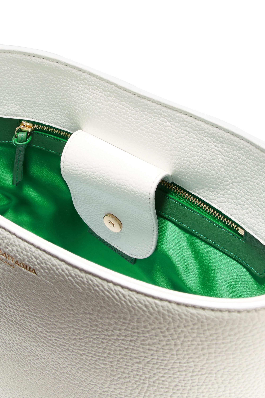 Sara Battaglia Lucy textured-leather bucket bag