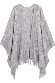 Wool-jacquard wrap