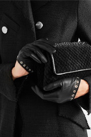 Alexander McQueen Eyelet-embellished leather gloves