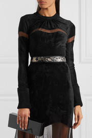 Alexander McQueen Sequined leather belt