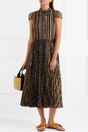 Alice + Olivia Bale lace-trimmed floral-print stretch-jersey midi dress