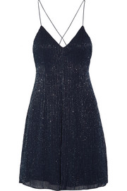 Alice + Olivia Alves beaded georgette mini dress