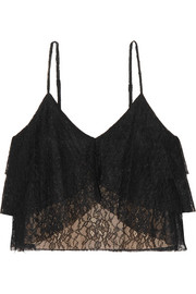 Alice + Olivia Vanessa tiered lace camisole