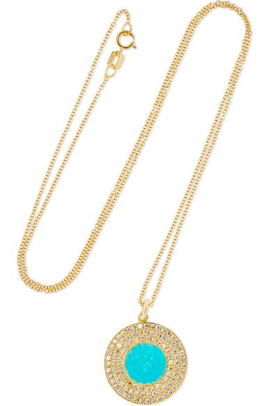 Jennifer Meyer - 18-karat Gold, Turquoise And Diamond Necklace