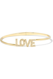 Jennifer Meyer Love 18-karat gold diamond bracelet