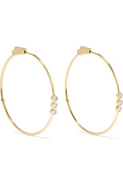 Jennifer Meyer 18-karat gold diamond hoop earrings
