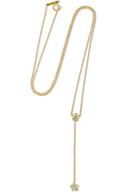 Flower Lariat 18-karat gold diamond necklace