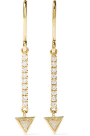 Jennifer Meyer Mini Stick 18-karat gold diamond earrings