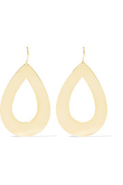 Jennifer Meyer Open Teardrop 18-karat gold earrings