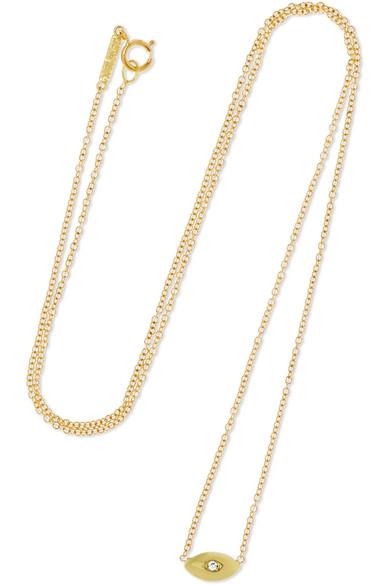 Jennifer Meyer - Mini Evil Eye 18-karat Gold Diamond Necklace